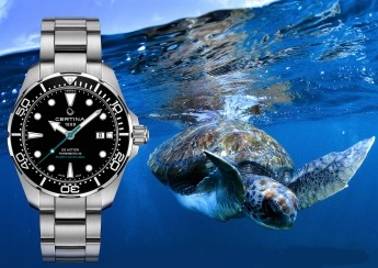 Hodinky s vyobrazením želvy