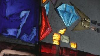 Legendární plastika za 2 miliony dolarů s názvem Oheň a sklo.