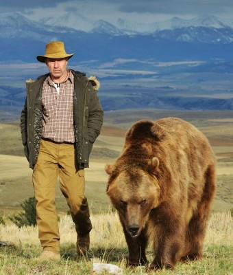 Petr Slavík s medvědem