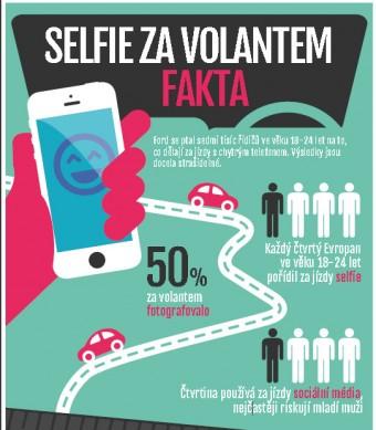 """""""selfie"""" za volantem"""