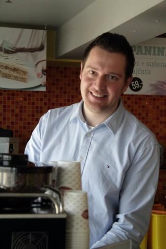 Luboš Martínek, šéfbarista kavárenské sítě CrossCafe