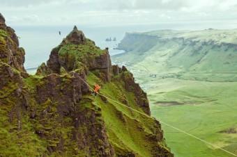 Čeští slacklineři dobývají islandské hory