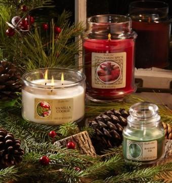 Lahodné zimní vůně svíček a vosků Candle-lite
