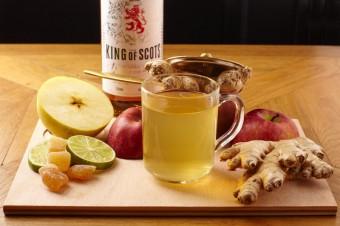 Kořeněný jablečný punč se zázvorem
