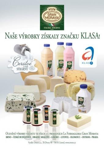 Mléčné produkty sýrárny Orrero