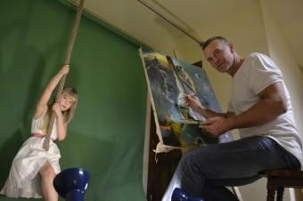 Martin Maxa s dcerkou Emou
