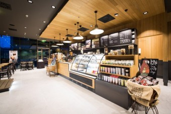 """Druhá kavárna Starbucks typu """"office store"""" v byznys lokalitě The Park na pražském Chodově"""