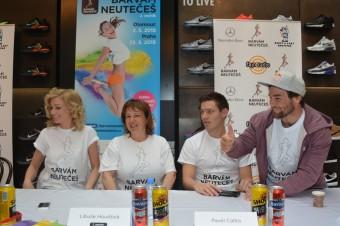 Poslední na tiskové konfereci zasedl Vavřinec Hradílek