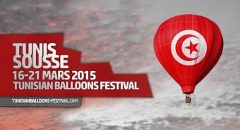 Festival horkovzdušných balónů v Tunisku