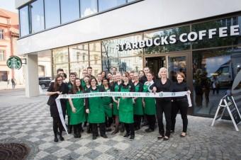 Stříhání pásky: Starbucks Meteor Křižíkova