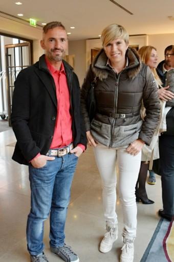 David Radil, šéfredaktor časopisu Menhouse s držitelkou zlatých olympijských medailí Kateřinou Neumannovou