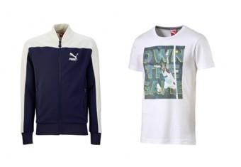 Mikina PUMA Pierre Track Jacket a triko PUMA Becker Tee