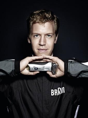 Sebastian Vettel tváří Braun Series 7, zdroj foto: Braun