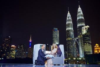 Jimmy Choo a Georgia May Jagger, Kuala Lumpur, British Airways