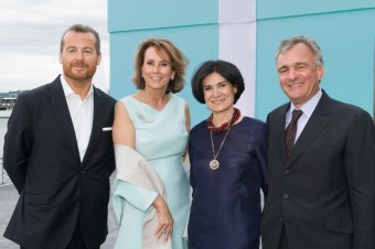 Frederic Cumenal, CEO Tiffany & Co., hraběnka Gitta Lambsdorff, Managing Director Tiffany & Co. pro Německo, Rakousko a Švýcarsko,  návrhářka Paloma Picasso Thévenet a Dr. Thévenet