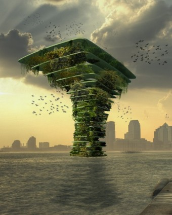 Mořský strom, Architect Koen Olthuis - Waterstudio.NL