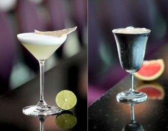 Koktejly: Altos Margarita a Becher Cup, Cloud 9 sky bar & lounge
