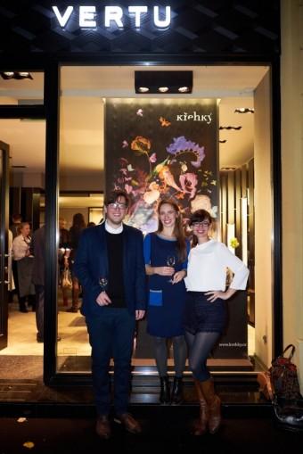 Tým designérů Michal Bačák, Klára Šumová a Veronika Jiroušková, Značka Vertu přenesla část Designbloku na Pařížskou