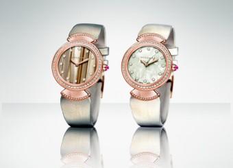 Nové šperkové modely Diva s ciferníkem zdobeným acetátovými vlákny z manufaktury Bulgari