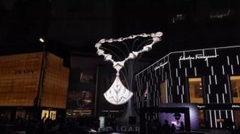 Světelná instalaceme, Čcheng-tu, BVLGARI