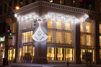 Světelná instalaceme, New York, BVLGARI