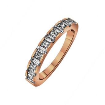 Skládané snubní prsteny s příběhem a barevné kameny, Diamonds International Corporation
