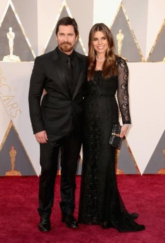 Herec Christian Bale se svojí manželkou Sibi Blazic ozdobenou diamantovými šperky Cartier, CARTIER