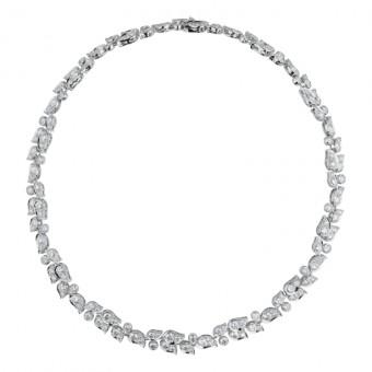Satine náhrdelník, 18 karátové bílé zlato a diamanty, Katel Riou, CARTIER