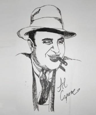 Mafie od embrya až dodnes, Al Capone, kresba: Kirsten