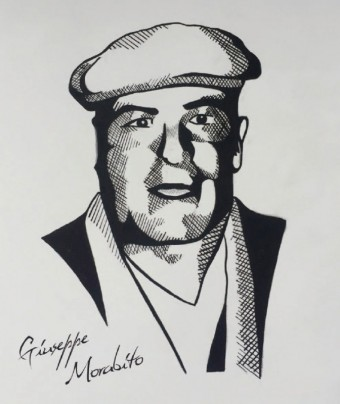 Mafie od embrya až dodnes, Giuseppe Morabito, kresba: Michael Neal