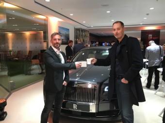David Radil a Zbyšek Serafín na slavnostním otevření showroomu Rolls-Royce Motor Cars Prague