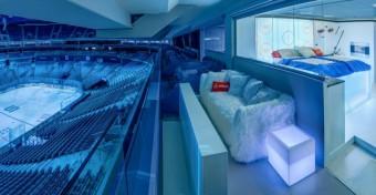 Speciálně upravený Skybox v O2 areně, soutěž s Airbnb a O2 Czech Republic