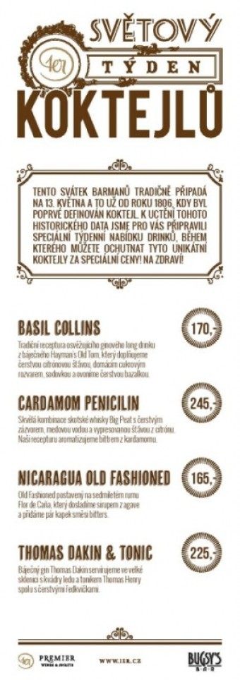 Bugsy's Bar, Praha, Premier Wines & Spirits