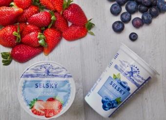 Selské jogurty jahoda a borůvka, Hollandia