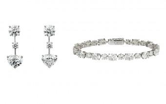 Náušnice a náramek z diamantové kolekce Cartier