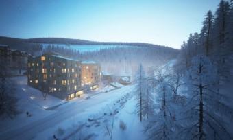 Zimní pohled, Apartmány Svatý Vavřinec