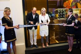 Grand Opening Breitling: Petr Kellner, CEO Breitling Austria & Eastern Europe a Zuzana Řezníčková, CEO Luxury Brand Management