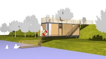 Hradec Králové veřejná sauna, vizualizace; archiv BU2R