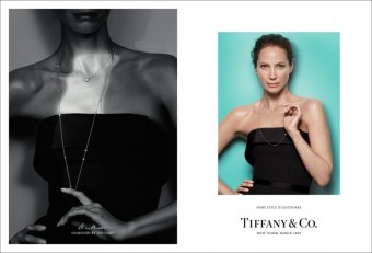 Christy Turlington wears Elsa Peretti® Diamonds by the Yard® necklace, Tiffany & Co.