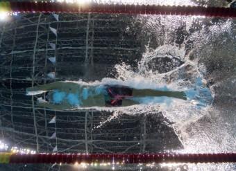 Brazilec Daniel Dias při plaveckém závodu na 100 metrů ve volném stylu. <br><br>Photo: AFP_G936B/-