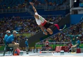 Atsushi Yamamoto z Japonska při finále ve skoku na dálku.<br><br>Photo: AFP_G90W1/-
