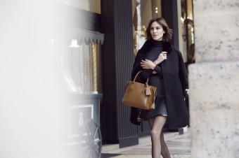 Alexa Chung, kampaň podzim-zima 2016, kabelka Penelope, Longchamp