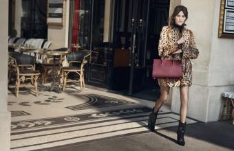 Alexa Chung, kampaň podzim zima 2016, kabelka Paris Premier, Longchamp