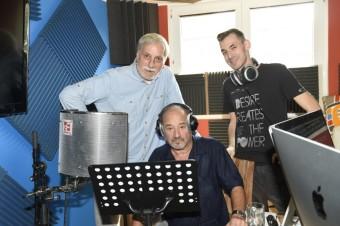 Při nahrávání hlasu Hospodina, foto: Muzikál Mefisto