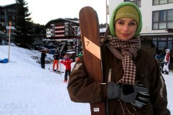 Ivana Jirešová na sjezdovce, pár metrů od hotelu  Falkensteine, foto: Hotel Falkensteiner Nassfeld