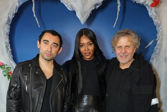 zleva: Nicola Formichetti (kreativní ředitel Dieselu), Naomi a Renzo Rosso (zakladatel značky)