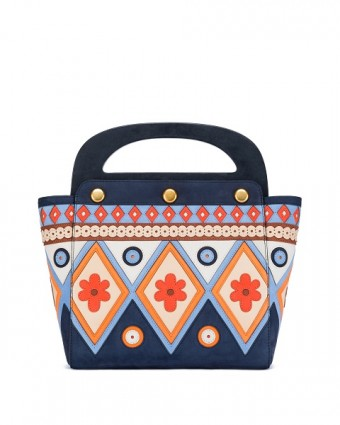 Bermuda Bag in Tory Navy-Multi Color
