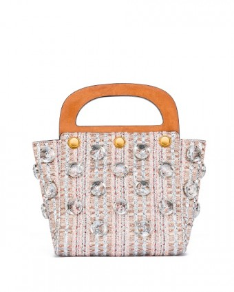 Jacquard Small Bermuda Bag in Ballet Pink