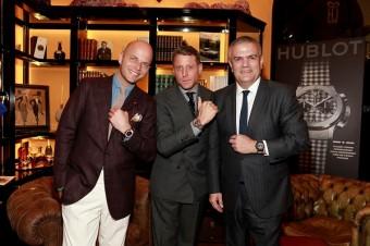 zleva: Luca Rubinacci, Lapo Elkann a Ricardo Guadalupe.