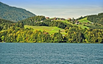 Jedno z nejkrásnějších jezer - Wolfgangsee.